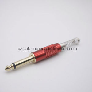Metal 6.35mm (1/4 inch) Plug with Long Spring in Different Colour pictures & photos