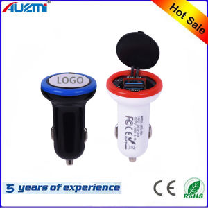 Universal Dual USB Car Charger with Customized Logo