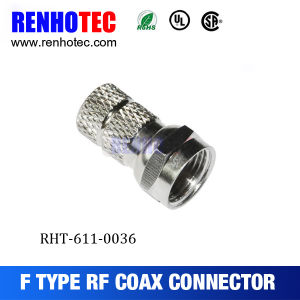 Nickel Silver Plated F Male Plug Connector pictures & photos
