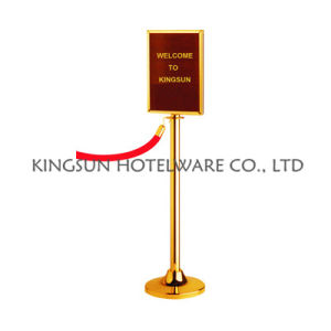 with Sign Frame for Public Use Silver Metal Crowd Control Barrier pictures & photos