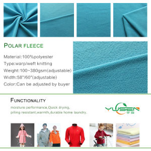 Anti-Static Flame Retardant Polar Fleece Fabric Sky Blue pictures & photos