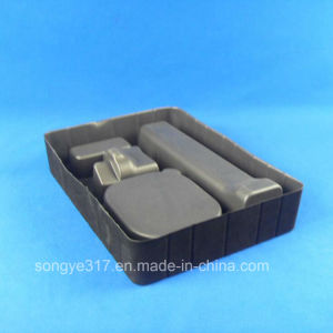 Flockingpvc Black Everyday Use Blister Tray pictures & photos