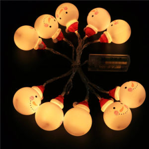 Christmas Ball Snowman Fairy String Light Yellow pictures & photos