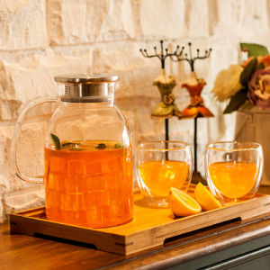 1.8L Glass Water Pitcher Cold Water Pitcher Fruit Juice Pot of Cold Water Pot/Glass Cold Brew Coffee Maker pictures & photos