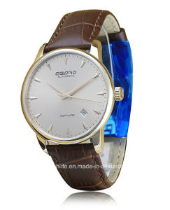 2016 Sapphire Automatic Leather Men Wrist Watch pictures & photos