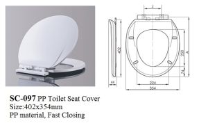 Sc-097 Cheapest Toilet Seat Cover for Round Two Piece Toilet pictures & photos