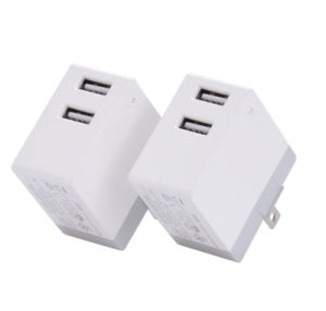 EU 5V2.4A Two Mobile Phone Smart Charger pictures & photos