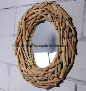 Manufacturers Selling Wooden Bathroom Make-up Mirror Hanging Wall Hotel Lobby Circle Size Can Be Customized (M-X3758) pictures & photos