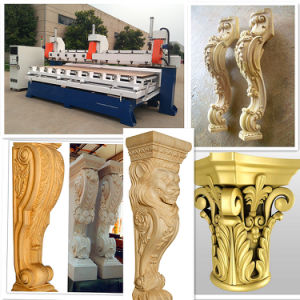 Cylinder Wood CNC Router / 5 Axis Multi Head CNC Wood Carving Machine pictures & photos