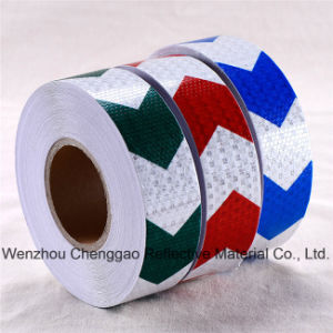 PVC Honeycomb Arrow Design Reflective Sticker Rolls 5cm (CG3500-AW) pictures & photos