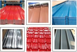 Galvanized Steel Roofing Sheet Colored Roof Tile for Building Material pictures & photos