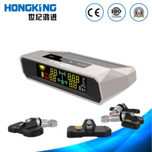 Solar Energy Car Tire Pressure Gauge with Color Display