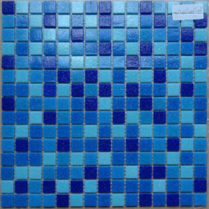 Cheap Price Blend Blue Colors Glass Mosaics pictures & photos
