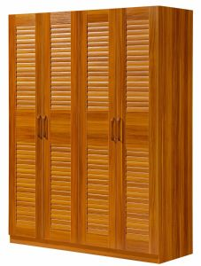 Solid Wood Four Doors Wardrobe for Bedroom Furniture pictures & photos