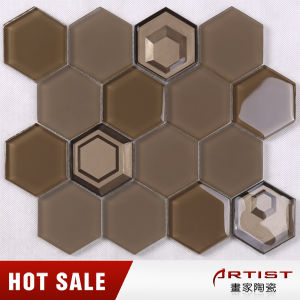 China Supplier Brown Vidrepur Crystal Glass Mosaic for Wall pictures & photos
