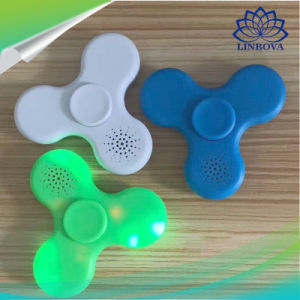 Plastic Gift Toy LED Finger Spinner Hand Spinner Fidget Spinner with Bluetooth Mini Speaker pictures & photos