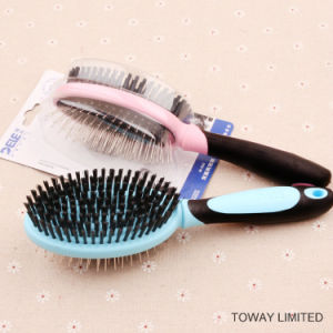Functional Double Beauty Grooming Stainess Steel Hair Combs Clean Brush pictures & photos