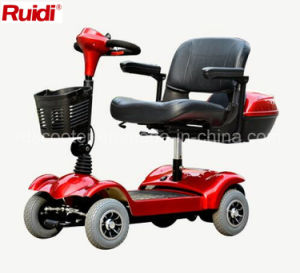 Small Size 4 Wheel Travel Scooter Electric Disabled Mobility Scooter pictures & photos