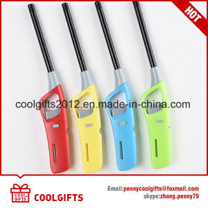 Promotion Gift Plastic Refillable Gas Lighter for BBQ and Kitchen pictures & photos