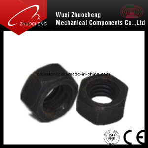 Hexagon Standard Carbon Steel Galvanized Black M6-30 Nut pictures & photos
