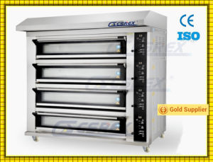 Modern Type 4 Decks Bakery  Deck Oven with Big Glass Window pictures & photos