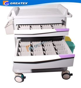 Hospital ABS Emergency Cart Nursing Medical Trolley pictures & photos