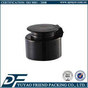 Black Plastic Flip Top Cap for Body Lotion Bottle pictures & photos