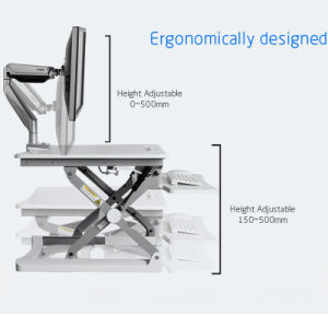 High Quality Notebook Holder Monitor Stand Computer Lifting Desk pictures & photos