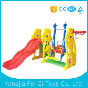 Wholesale Large Child Slide Ladder Plastic Slide with Swing, Basketball Hoop Stand with Ball pictures & photos