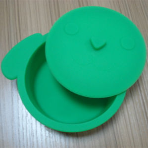 Cute Dog Shape Silicone Lunch Box pictures & photos