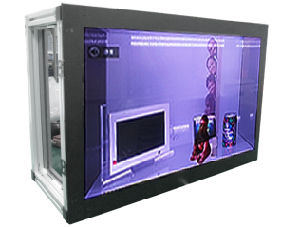 24-Inch Glass Display Box Showcase with HDMI Input pictures & photos