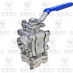 Vertical 3 Way Ball Valve L Port BSPP (Q13F) pictures & photos