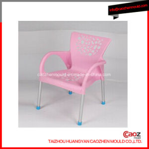 Plastic Hollow/Arm Chair with Steel Tube Mould