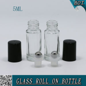 High Quality 5ml Cosmetics Green Glass Roll on Bottle for Essential Oil pictures & photos