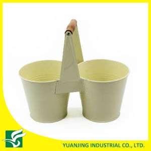 Double Garden Flower Pots with Short Handle pictures & photos