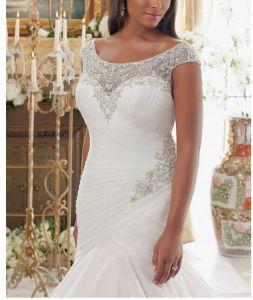 2017 off-Shoulder Plus Size Bridal Wedding Dresses PLD006 pictures & photos