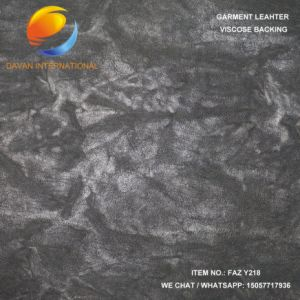 Nice Synthetic Leather of Garment with Embossed Surface Faz Y218 pictures & photos