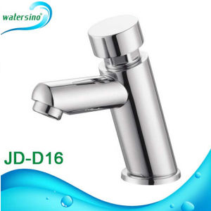 Single Cold Brass Chrome Time Delay Self Closing Tap Faucet pictures & photos