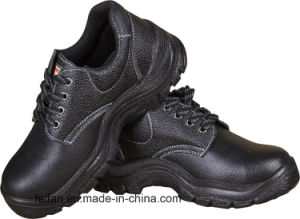 Genuine Leather Safety Shoe with Steel Toe and Plate, PU or Rubber Sole pictures & photos