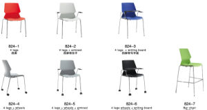Office School Mesh Stacking Training Chair with Wheels pictures & photos