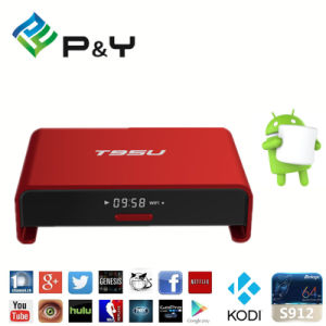 Pendoo T95u PRO S912 Octa Core TV Box Pre-Installed Amlogic S912 Octa-Core 2GB/16GB 4k*2k Output Android TV Box pictures & photos