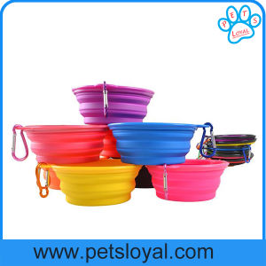 Ebay Amazon Hot Sale Collapsible Silicone Pet Feeder Bowl pictures & photos