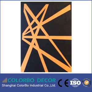 Embossing Wall Covering Polyester Fiber Acoustic Panel pictures & photos
