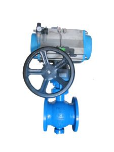 Pneumatic Eccentric Semi Ball Valve pictures & photos