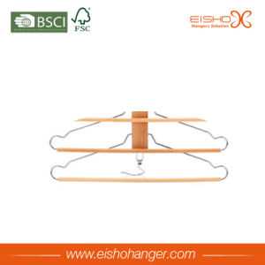 Eisho Wholesale Grade a Wooden Pant Hangers with 4 Branches pictures & photos