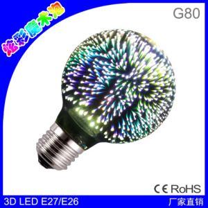St64 G80 G95 4W Fireworks Bulb LED Filament Lamp E27 Decorative Color 3D Edison Light Bulb for Holiday Home Decoration pictures & photos