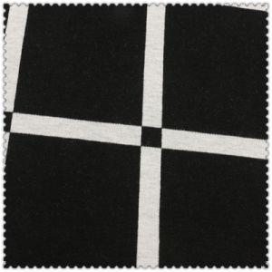 White & Black Cotton Knitting Checks of Fashion Garment