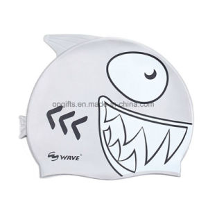 Fun Fish Shape with Printing Silicone Swim Caps pictures & photos