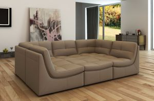 Modern Leather Sofa with Bonded Leather Hot Sales Living Room Sofa pictures & photos