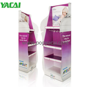 Food Corrugated Cardboard Floor Display Stand 5 Shelves Cardboard Display pictures & photos